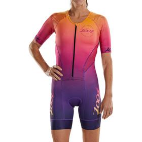 Zoot LTD Tri Aero Racesuit Doorlopende Rits Plus Dames, sunset